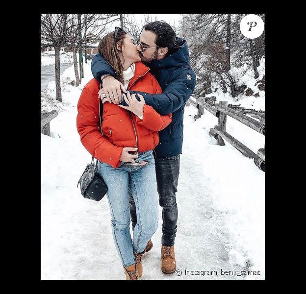 """Alix et Benjamin des """"Marseillais"""" en amoureux au ski - Instagram, 14 février 2019"""
