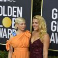 Michelle Williams enceinte et Busy Philipps - Photocall de la 77e cérémonie annuelle des Golden Globe Awards au Beverly Hilton Hotel à Los Angeles, le 5 janvier 2020. © Kevin Sullivan via ZUMA Wire/Bestimage