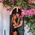 Mélanie Dedigama et Vincent en vacances, le 6 septembre 2019