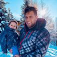 Neymar avec son fils Lyam au ski, le 3 décembre 2019
