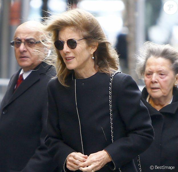 Caroline Kennedy assiste aux obsèques de Lee Radziwill (Caroline Lee Bouvier), la soeur de Jackie Kennedy et belle-soeur de John F. Kennedy, en l'église Saint Thomas More à New York le 25 février 2019.