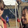 Exclusif - Malia Obama et son compagnon Rory Farquharson sont allés assister à un match de football Yale-Harvard à New Haven dans le Connecticut. Le match de football a été retardé par quelques étudiants manifestant pour le climat. Le 23 novembre 2019.