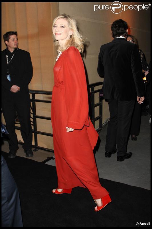 Cate Blanchett au 50e anniversaire du magazine Vogue Australie