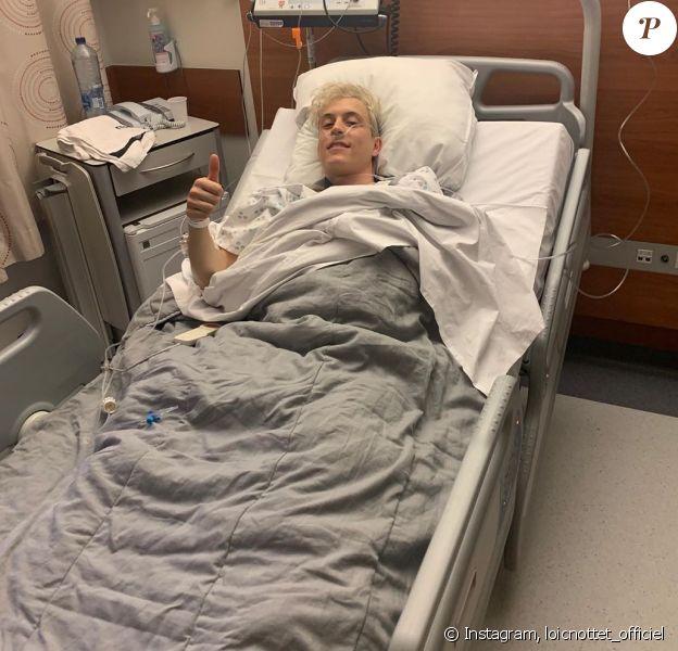 Loïc Nottet a posté cette photo de lui à l'hôpital, sur Instagram, le 10 janvier 2020.