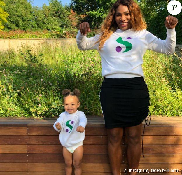Serena Williams avec sa fille Olympia sur Instagram le 1er juillet 2019.