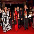 Pauline Ducruet, la princesse Stéphanie de Monaco, Louis Ducruet, sa femme Marie et le prince Albert II de Monaco durant la soirée d'ouverture du 44eme Festival International du Cirque de Monte-Carlo à Monaco le 16 janvier 2020. Le Festival se déroule sous le chapiteau de Fontvieille du 16 au 26 janvier 2020. © Bruno Bebert/Bestimage