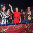 Pauline Ducruet, la princesse Stéphanie de Monaco, le prince Albert II de Monaco et Louis Ducruet durant la soirée d'ouverture du 44eme Festival International du Cirque de Monte-Carlo à Monaco le 16 janvier 2020. Le Festival se déroule sous le chapiteau de Fontvieille du 16 au 26 janvier 2020. © Bruno Bebert/Bestimage