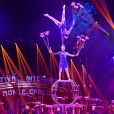 """La troupe acrobatique de Shandong, """"spinnig plates"""", durant la soirée d'ouverture du 44eme Festival International du Cirque de Monte-Carlo à Monaco le 16 janvier 2020. Le Festival se déroule sous le chapiteau de Fontvieille du 16 au 26 janvier 2020. © Bruno Bebert/Bestimage"""