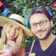 Yael Grobglas et son compagnon Artem, photo Instagram publiée par l'actrice lors de la Saint-Valentin 2018. Le couple a accueilli en janvier 2020 son premier enfant, Arielle.