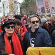 Susan Sarandon, Joaquin Phoenix - Les people marchent pour le climat à Washington le 10 janvier 2020.