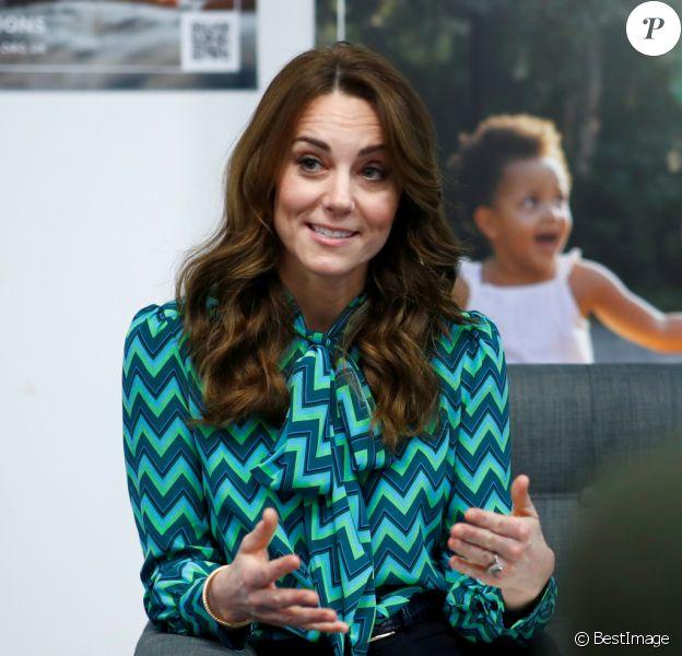 Kate Middleton, duchesse de Cambridge, participe au lancement d'une enquête sur la petite enfance à l'échelle de tout le Royaume Uni le 21 janvier 2020 à Birmingham.