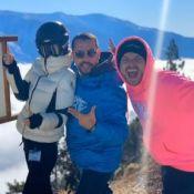 Laeticia Hallyday au ski avec la fille de Pascal Balland et Kev Adams