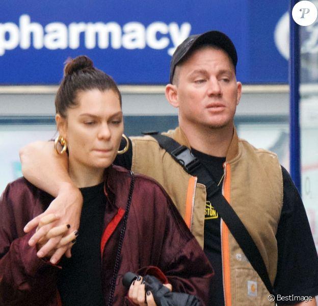 Exclusif - Jessie J et son compagnon Channing Tatum font du shopping en amoureux à Londres, le 19 juin 2019.
