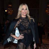 Molly Sims : En transparence à la Fashion Week, face à Malika Ménard