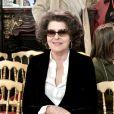 Fanny Ardant assiste au défilé Imane Ayissi, saison Haute Couture printemps-été 2020, à l'hôtel La Marois. Paris, le 23 janvier 2020.