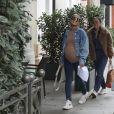Exclusif - Christina Milian, enceinte, avec son compagnon Matt Pokora et une amie, vont déjeuner à Los Angeles, le 16 janvier 2020.
