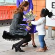 Kate Middleton, duchesse de Cambridge, arrive à un atelier organisé par le programme hospitalier de la National Portrait Gallery à l'Evelina Children's Hospital à Londres, Royaume Uni, le 28 janvier 2020.
