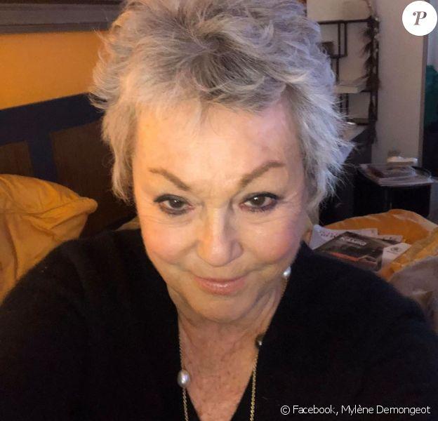 Mylène Demongeot sur Facebook. Le 26 janvier 2020.