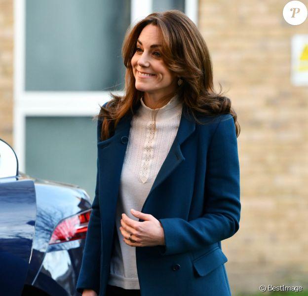 Kate Middleton, duchesse de Cambridge, visite la crèche et le jardin d'enfants de Leyf Stockwell Gardens à Londres, Royaume Uni, le 29 janvier 2020.