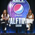 Shakira et Jennifer Lopez en conférence lors de la mi-temps du Pepsi Super Bowl à Miami, le 30 janvier 2020.