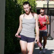 Milla Jovovich : à quelques jours de son mariage, elle se met au sport mais reste diablement sexy !