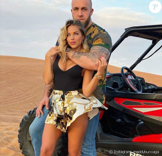 Maddy Burciaga avec son compagnon GMK à Dubaï, le 15 décembre 2019, sur Instagram