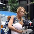 Blake Lively sur le tournage de la série  Gossip Girl .