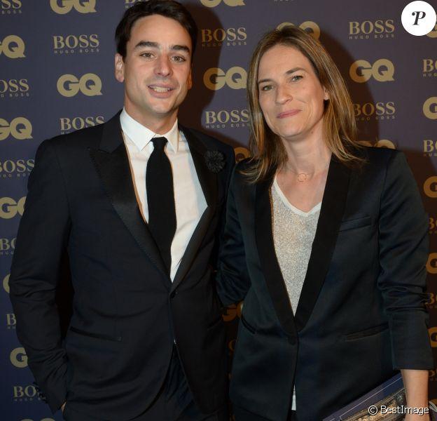 """Archives - Julian Bugier et sa femme Claire Fournier lors de la soirée """"L'homme de l'année GQ 2014"""" au Musée d'Orsay, à Paris le 19 novembre 2014."""