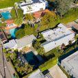 Exclusif - Vues aériennes de la maison de Kirk Douglas à Los Angeles, le 6 février 2020.
