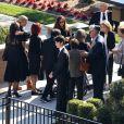 Catherine Zeta-Jones avec son fils Dylan Michael Douglas - K. Douglas a été enterré dans un service funéraire privé en présence de ses amis et de sa famille les plus proches au Westwood Memorial de Los Angeles, le 7 février 2020.
