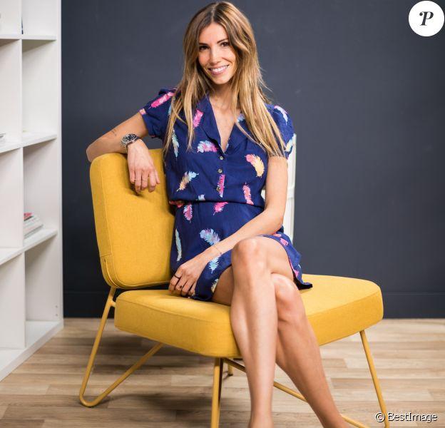 """Exclusif - Rendez-vous avec Alexandra Rosenfeld (enceinte) dans les studios de Webedia pour une interview pour """"Purepeople"""" à Levallois-Perret le 16 septembre 2019."""