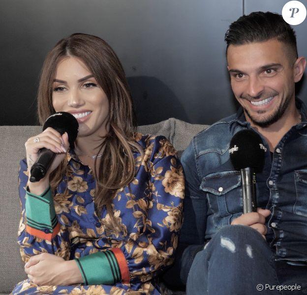 """Manon et Julien (""""Les Marseillais"""") en interview pour """"Purepeople.com"""", le 11 février 2020."""