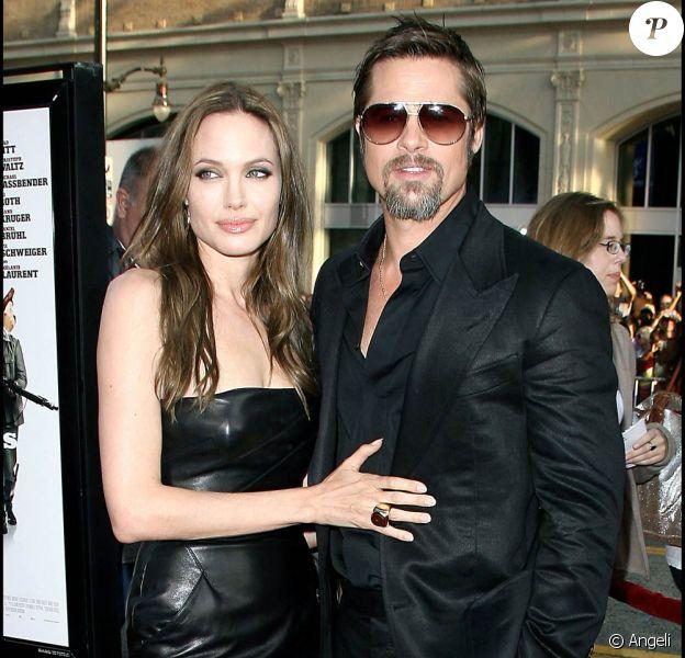 Angelina Jolie et Brad Pitt, à l'occasion de l'avant-première américaine d'Inglourious Basterds, qui s'est tenue au Graumann's Chinese Theatre, à Los Angeles, le 10 août 2009 !