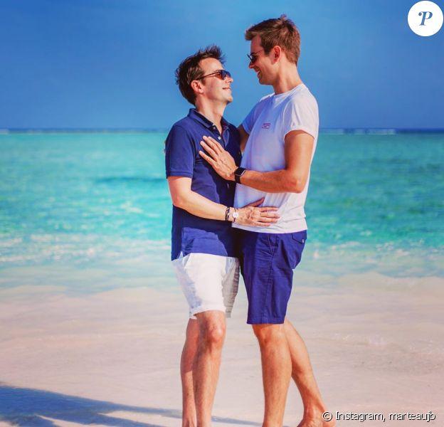 Jean-Baptiste Marteau et Bruno en vacances au soleil, le 3 février 2020