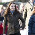 Catherine Kate Middleton, duchesse de Cambridge, lors d'une visite à la Ark Open Farm à Newtownwards, Irlande le 12 février 2020.