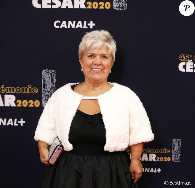 Exclusif - Mimie Mathy lors de l'arrivée à la 45e cérémonie des Cesar à la salle Pleyel à Paris, le 28 février 2020.