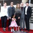 Rita Wilson avec son mari Tom Hanks, sa petite-fille, ses fils Chet Hanks et Truman Theodore Hanks et des membres de la famille - Rita Wilson reçoit son étoile sur le Walk Of Fame à Hollywood, Los Angeles, le 29 mars 2019