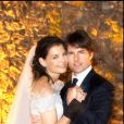 Photo officielle du mariage de Tom Cruise et Katie Holmes, en 2006.
