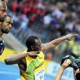 """Usain Bolt, champion du monde du 100 m le 16 août 2009 en 9""""58."""