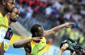 Usain Bolt, champion du monde du 100 m en un temps record : regardez sa course éclair... et sa joie !