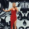 """Céline Dion en concert à l'American Airlines Arena dans le cadre de sa tournée """"Courage World Tour"""" à Miami, le 17 janvier 2020."""