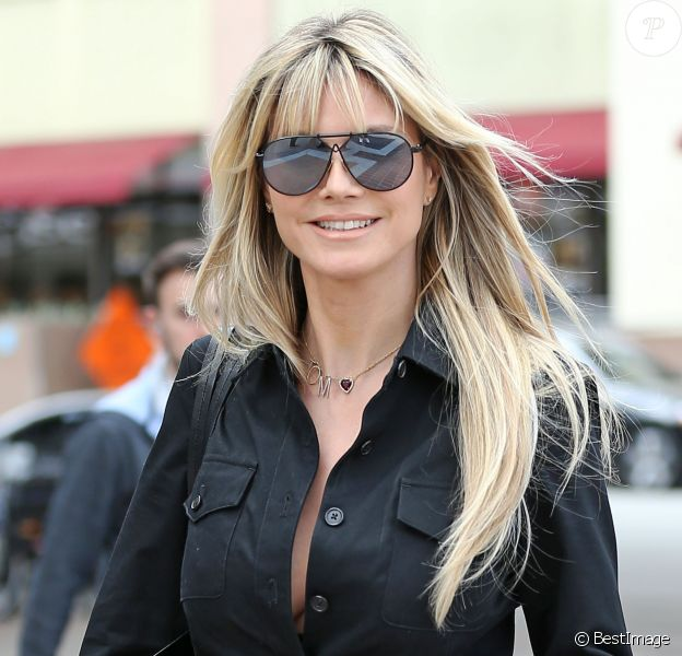 Heidi Klum arrive à l'enregistrement de l'émission America's got talent à Los Angeles le 7 mars 2020.