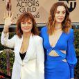 """Susan Sarandon et sa fille Eva Amurri lors des 22e """"Annual Screen Actors Guild Awards"""" à Los Angeles le 30 janvier 2016. © CPA /BESTIMAGE"""