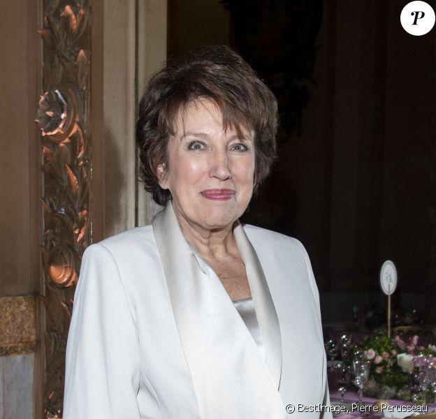 Roselyne Bachelot - Dîner du 40ème Gala de Charité AROP (Association pour le Rayonnement de l'Opéra de Paris) à l'Opera Garnier à Paris le 27 février 2020. © Pierre Perusseau/Bestimage