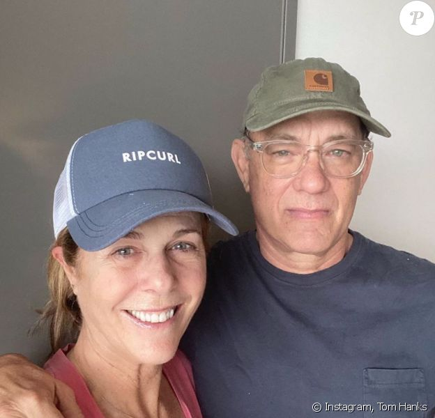 Rita Wilson et son mari Tom Hanks ont été testés positifs au Coronavirus. Mars 2020.
