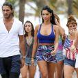 "Thomas (Secret Story), Nabilla Benattia, Frederique (Koh Lanta), Marie (Koh Lanta) - Tournage de la cinquieme saison des ""Anges de la Tele Realite"" a Miami, le 22 mars 2013."