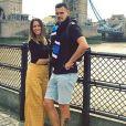 """Lucie de """"L'amour est dans le pré"""" avec son petit ami Jérôme Prior à Londres, le 7 août 2019"""