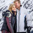 La reine Maxima et le roi Willem-Alexander des Pays-Bas en mode romantique lors de la séance photo avec la presse à l'occasion des vacances de la famille royale aux sports d'hiver à Lech, Autriche, le 25 février 2020.