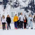 La famille royale des Pays-Bas lors de la séance photo avec la presse à l'occasion des vacances aux sports d'hiver à Lech, Autriche, le 25 février 2020.