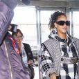 Exclusif - Rihanna arrive à l'aéroport JFK de New York le 21 janvier 2020, après sa séparation avec Hassan Jameel.